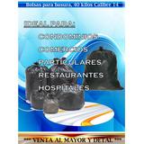 Bolsa Plástica Negra Basura 40kg 200lt Calibre 14