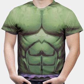 Camiseta Masculina Camisa Hulk Músculos Vingadores Marvel