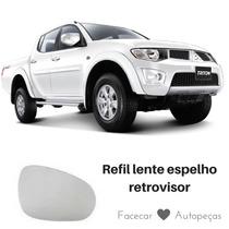 Lente Espelho Retrovisor Mitsubishi L200 Triton Ld Direito