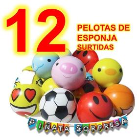 12 Pelota Esponja Economico Juguete Piñata Fiesta Bolo Premi