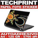 Papel Foto A4 Autoadhesivo Skin Sticker Protector Laptop Cpu