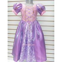 Hermoso Vestido Rapunzel Para Niña Disfraz Tangled Enredados