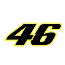 Adesivo Valentino Rossi Nº46 (médio) - Preto/amarelo