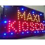 Cartel Led Luminoso Maxikiosco Abierto Kiosco Varios Rubros