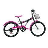 Bicicleta Caloi Barbie Aro 20 Com 7 Velocidades