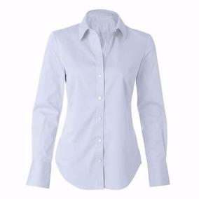 Kit 4 Camisete Camisa Branca Social Feminina Tricoline