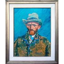 Autorretrato De Vincent Van Gogh/cuadro Al Óleo Sobre Lienzo
