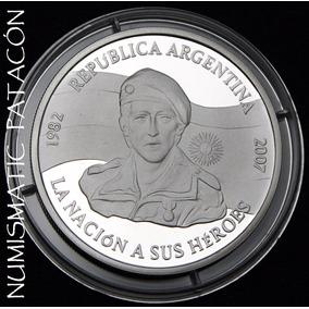 Moneda Plata 25 Aniversario De Malvinas - Certificado Bcra