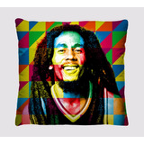 Almofadas Decorativas Personagens Bob Marley Retro