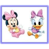 Kit Imprimible Minnie Y Daisy Bebés Fiesta Cumpleaños Torta
