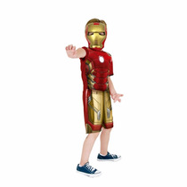Fantasia Homem De Ferro G Infantil Iron Man