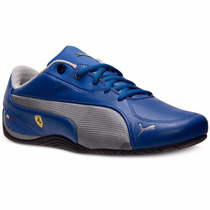 2014 Tenis Puma Drift Cat 5 Ferrari Team Blue Silver Low Gym