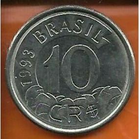 Moeda De 10 Cruzeiros Antiga - 1993 - Tamandua -frete Grátis