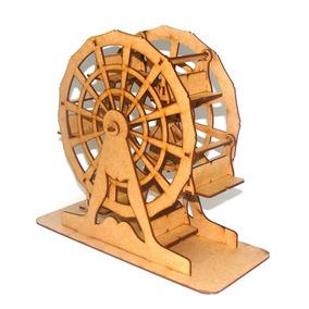 Kit 2x Roda Gigante Grande 6 Cadeiras Mdf Cru Artesanal