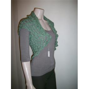 Bolero Saco Corto Chaleco Crochet Hilo Mujer Primavera