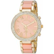 Reloj Mujer U.s. Polo Assn Usc40063 Tono Rosa Dorado