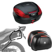 Kit Honda Xre300 Suporte Lateral + Bauletos Givi E460n E470n