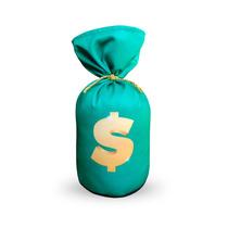Peso De Porta Saquinho Chama Dinheiro Sorte Boas Vibrações