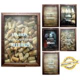 Quadro Porta Rolha De Vinho Madeira Mdf Vinho Decoração
