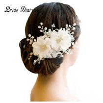 Noiva Casamento Debutante Acessório Flor Cabelo /branco