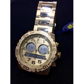 Relógio Masc Atlantis Sports A3228 Todo Dourado