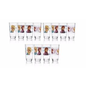 12 Vasos Frozen Vidrio Grueso Crisa