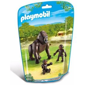 Retromex Playmobil 6639 Familia De Gorilas Zoologico Animal