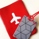 Porta Pasaporte Y Tag Para Maleta Con Diseño Creativo