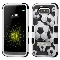 Funda Protector Triple Layer Lg G5 Futbol C/pie Metalico