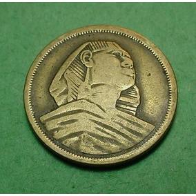 Egito Moeda De 10 Milliemes 1958 A Esfinge De Gize Do Antigo