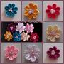 Flores De Cinta 3cm Para Elaborar Ganchos Lazos Y Cintillos