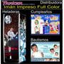 Rollo Plancha De Imán Impreso Full Color 0,62x1 Mts. Traker