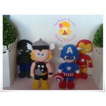 Vingadores Em Feltro Decoração Enfeite Super Heróis