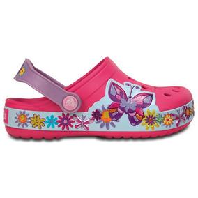 Zapato Crocs Infantil Crocband Butterfly Clog