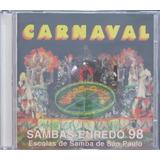 Carnaval 98 Cd Sambas Enredo Escolas De Samba São Paulo