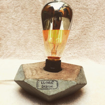 Lámpara De Mesa Decorativa Retro Concreto Barata Estilo Lujo