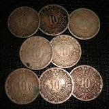 Monedas 10 Centavo 1936 1946 Calendario Azteca Serie Complet
