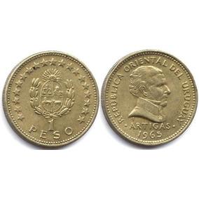 Moneda Uruguay 1 Peso Año 1965 Km# 46