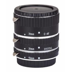 Set Tubos Extension Phottix P/ Lentes Canon Eos P/ Macro