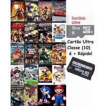 Cartão De Memória P/ Psp 16gb + De 2.500 Patchs De Jogos Psp