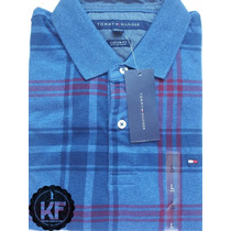 Camisa Polo Xadrez Tommy Hilfiger Original Raras