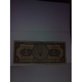 Billete Antiguo De 1 Peso 1970 Calendario Azteca