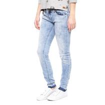 Only - Jeans Skinny Deslavados - Azul - 15112591