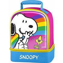 Snoopy Thermos Dual Compartment Lonchera Lunck Kit