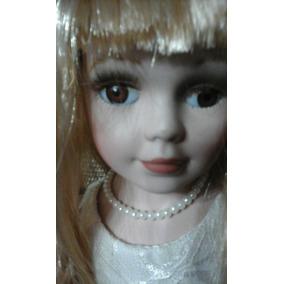 Muñeca De Porcelana Aprox. 50 Cm. Altura