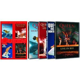 Dvd Queen Live At Wembly / Rock Montreal / Live In Rio / O.s