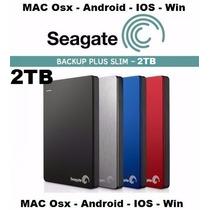 Hd Externo 2tb Mac Seagate Backup Plus Slim Portátil Usb 3.0