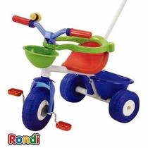 Babynet Triciclo Infantil Con Manija Rondi Body Pink Metal