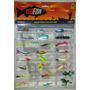 Set De Pesca X24 Cucharas Señuelos Varias Especies