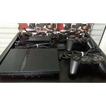 Ps2 Slim Chipeada Con Memori Y 2 Joystick Originales